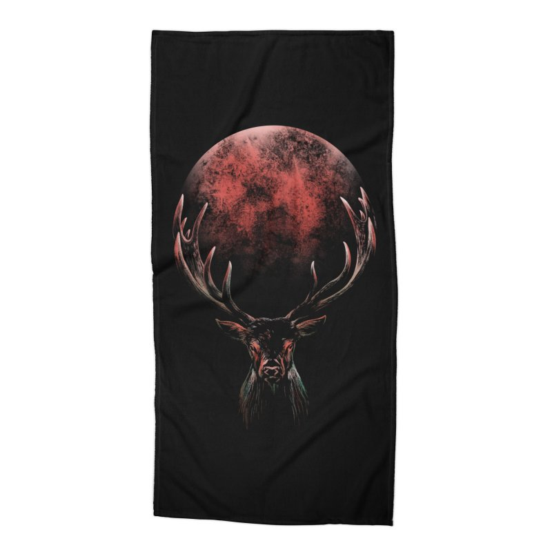 FULL MOON Accessories Beach Towel by Winterglaze's Artist Shop
