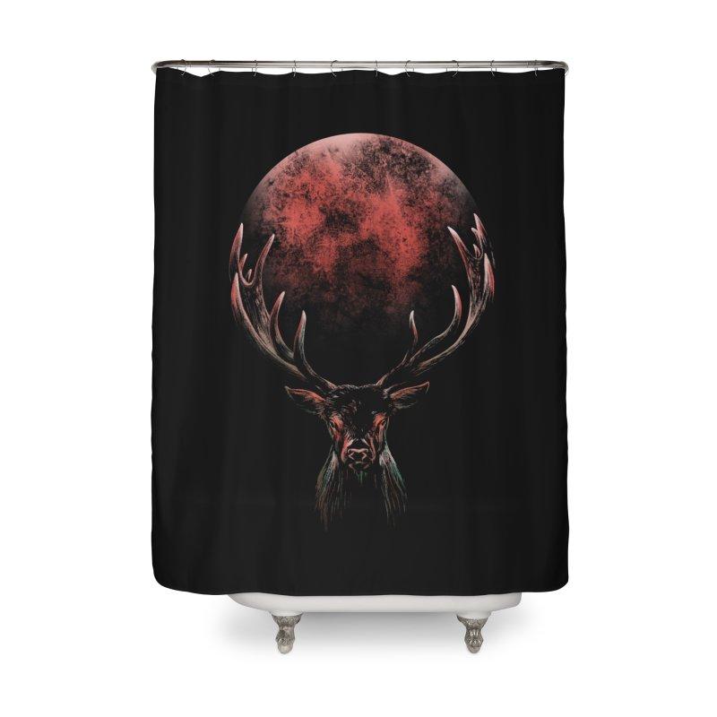 FULL MOON Home Shower Curtain by Winterglaze's Artist Shop