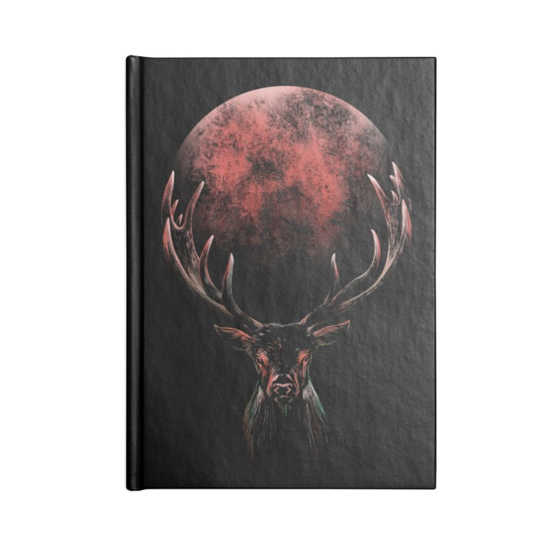 FULL MOON Accessories Notebook by Winterglaze's Artist Shop
