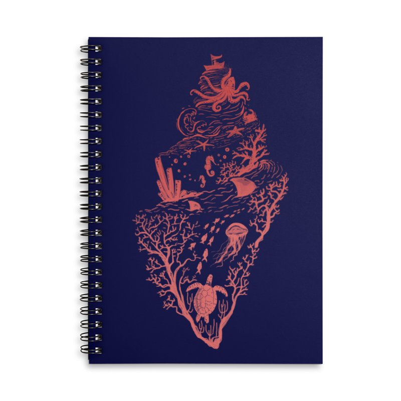 The Great Adventure Accessories Lined Spiral Notebook by Winterglaze's Artist Shop