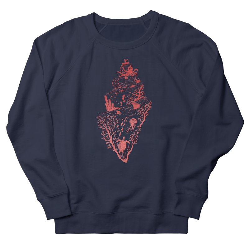 The Great Adventure Men's French Terry Sweatshirt by Winterglaze's Artist Shop
