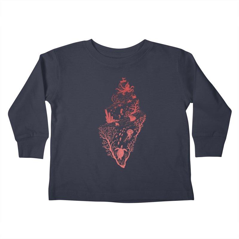 The Great Adventure Kids Toddler Longsleeve T-Shirt by Winterglaze's Artist Shop