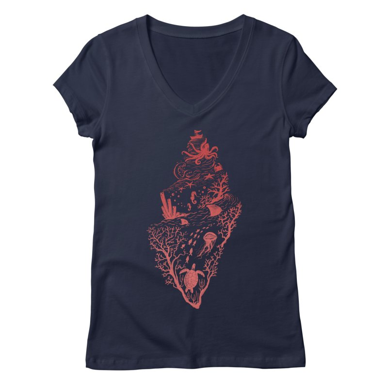 The Great Adventure Women's Regular V-Neck by Winterglaze's Artist Shop