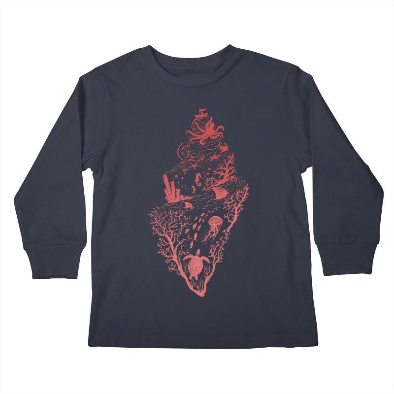 The Great Adventure Kids Longsleeve T-Shirt by Winterglaze's Artist Shop