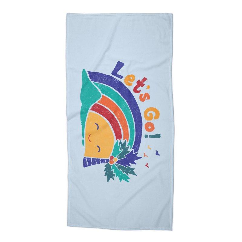 LET'S GO! Accessories Beach Towel by Winterglaze's Artist Shop