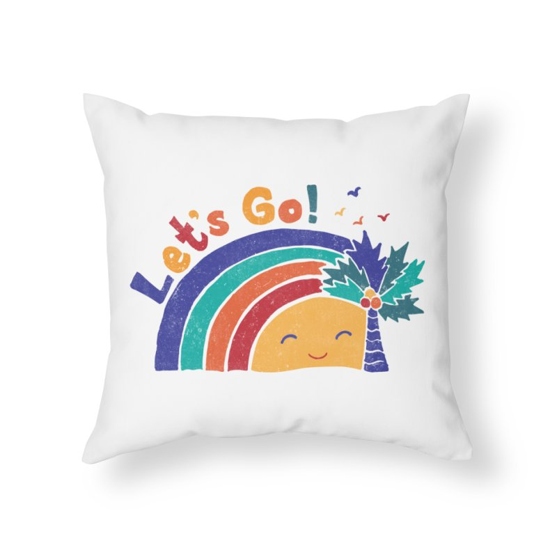LET'S GO! Home Throw Pillow by Winterglaze's Artist Shop