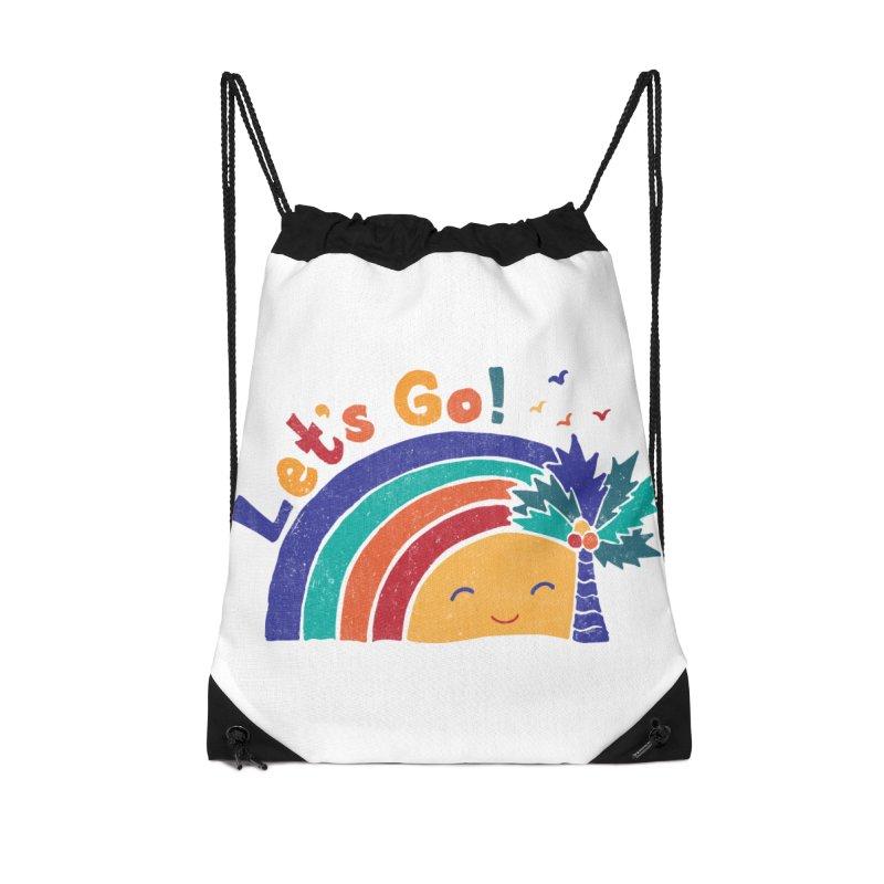 LET'S GO! Accessories Drawstring Bag Bag by Winterglaze's Artist Shop
