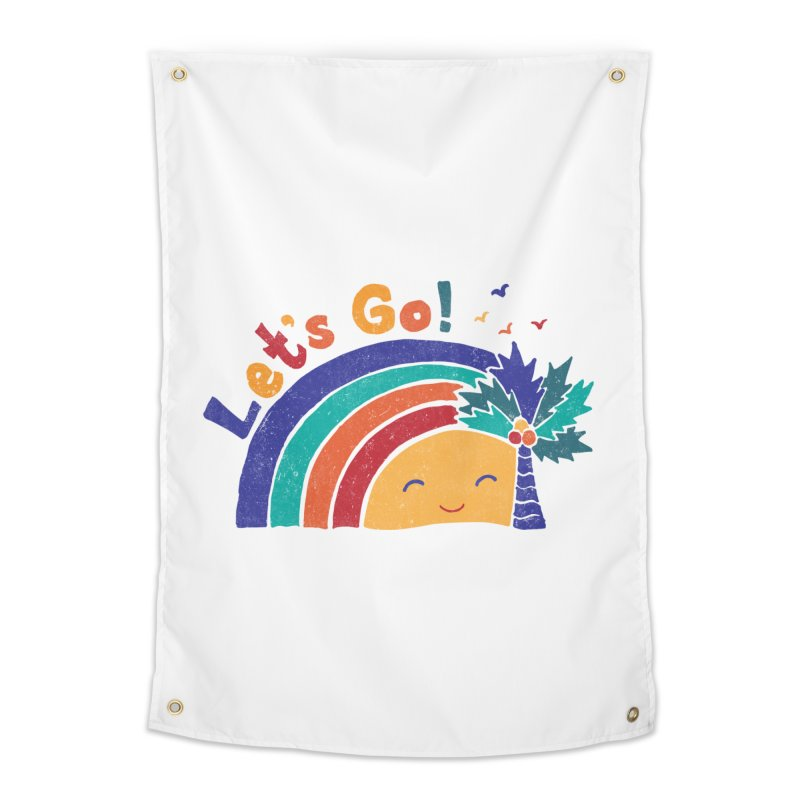 LET'S GO! Home Tapestry by Winterglaze's Artist Shop