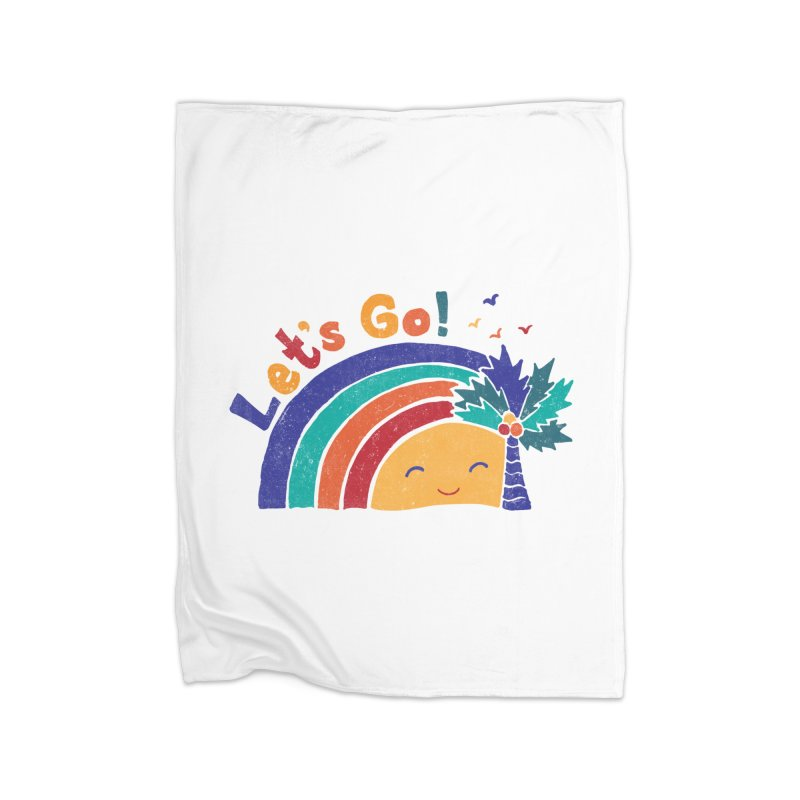 LET'S GO! Home Fleece Blanket Blanket by Winterglaze's Artist Shop