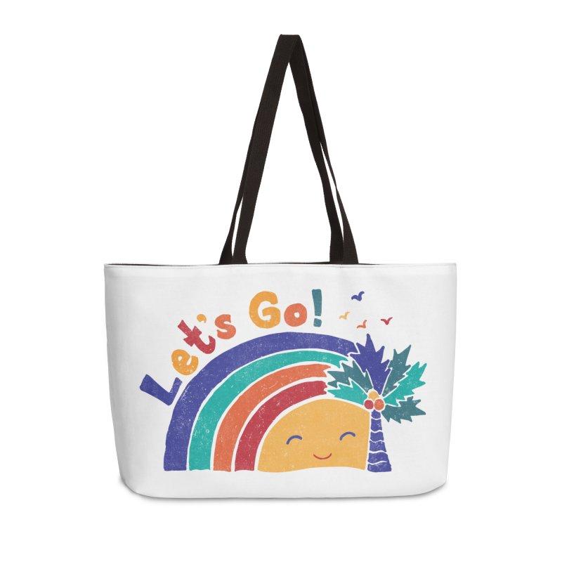 LET'S GO! Accessories Weekender Bag Bag by Winterglaze's Artist Shop