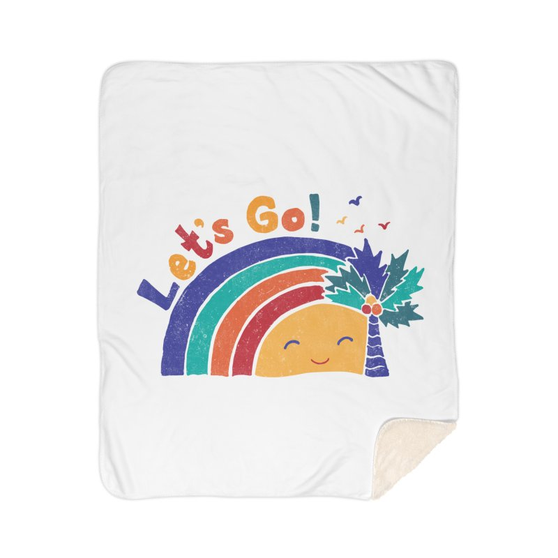 LET'S GO! Home Sherpa Blanket Blanket by Winterglaze's Artist Shop