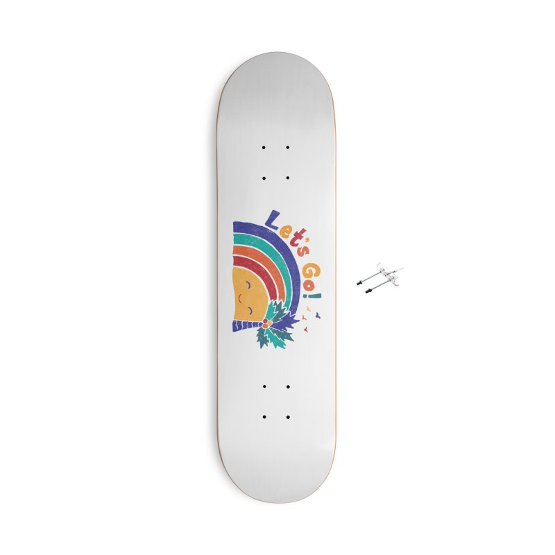 LET'S GO! Accessories With Hanging Hardware Skateboard by Winterglaze's Artist Shop