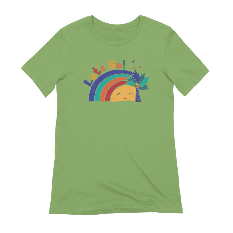 LET'S GO! Women's Extra Soft T-Shirt by Winterglaze's Artist Shop