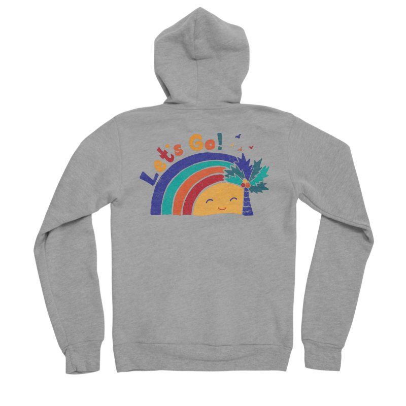 LET'S GO! Men's Sponge Fleece Zip-Up Hoody by Winterglaze's Artist Shop