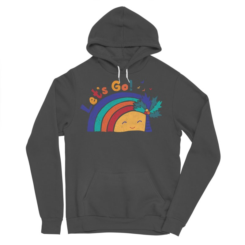 LET'S GO! Men's Sponge Fleece Pullover Hoody by Winterglaze's Artist Shop