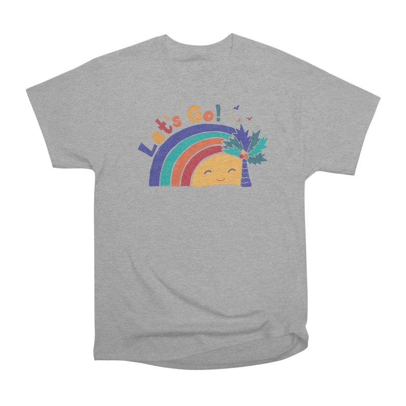 LET'S GO! Men's Heavyweight T-Shirt by Winterglaze's Artist Shop