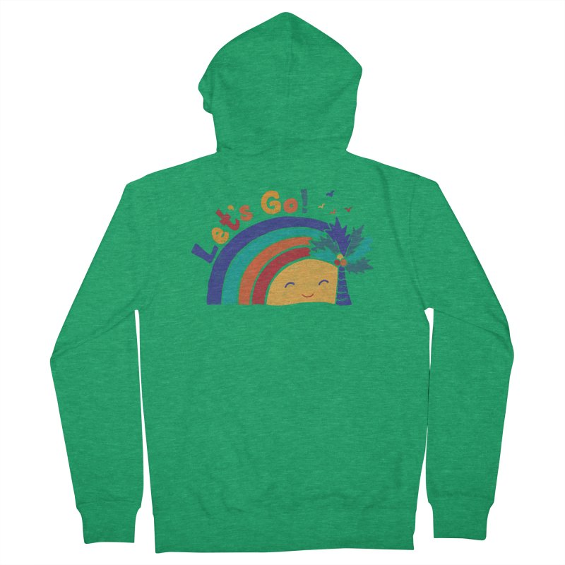 LET'S GO! Women's Zip-Up Hoody by Winterglaze's Artist Shop