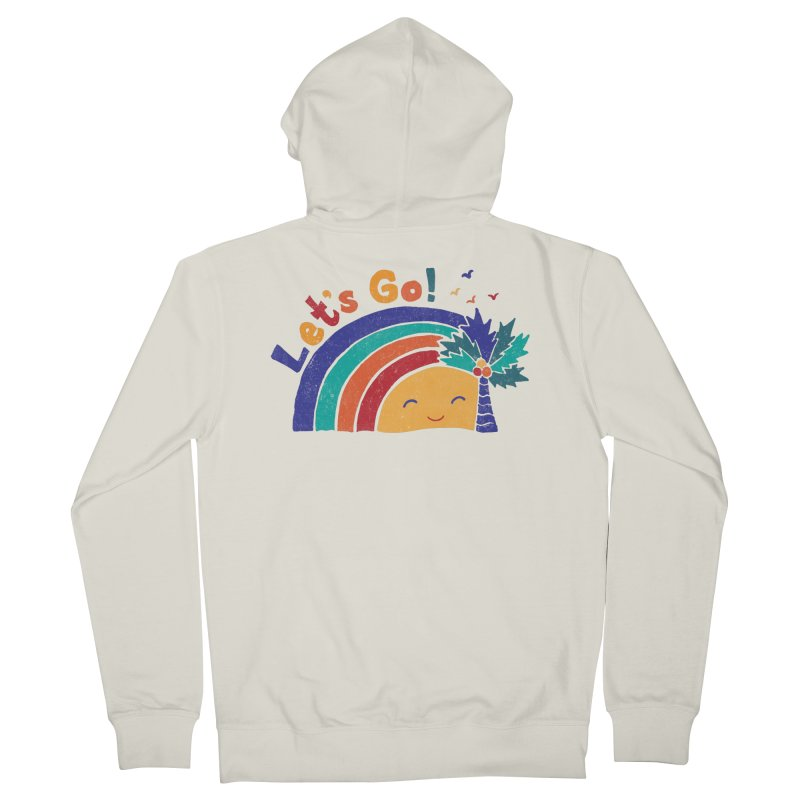 LET'S GO! Women's French Terry Zip-Up Hoody by Winterglaze's Artist Shop