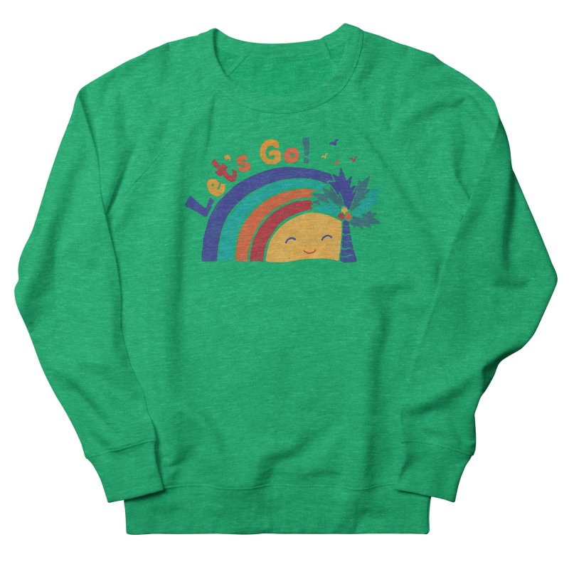 LET'S GO! Men's French Terry Sweatshirt by Winterglaze's Artist Shop