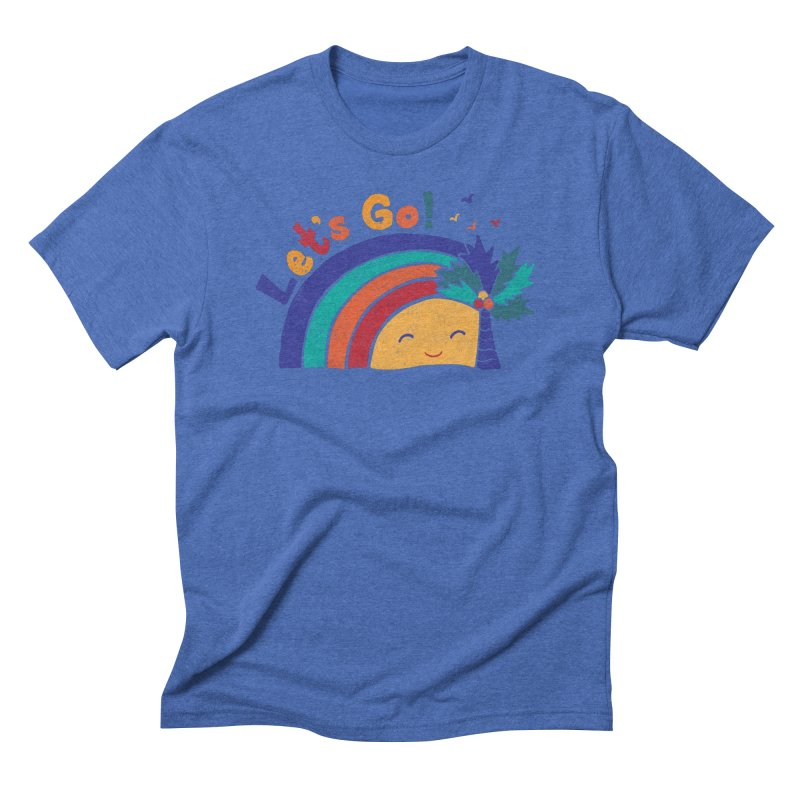 LET'S GO! Men's Triblend T-Shirt by Winterglaze's Artist Shop