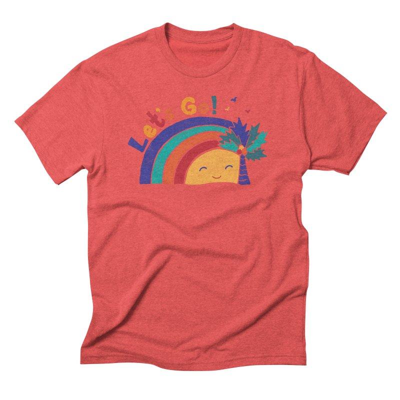 LET'S GO! Men's Triblend T-Shirt by Winterglaze's Artist Shop