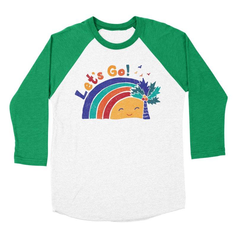 LET'S GO! Women's Baseball Triblend Longsleeve T-Shirt by Winterglaze's Artist Shop