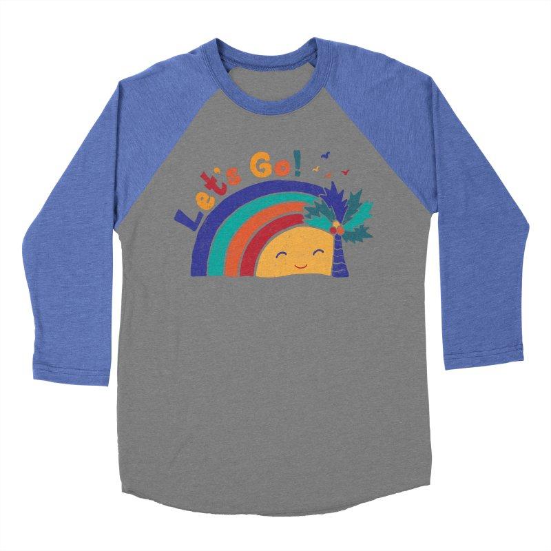 LET'S GO! Men's Baseball Triblend Longsleeve T-Shirt by Winterglaze's Artist Shop