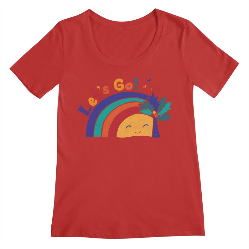 LET'S GO! Women's Regular Scoop Neck by Winterglaze's Artist Shop