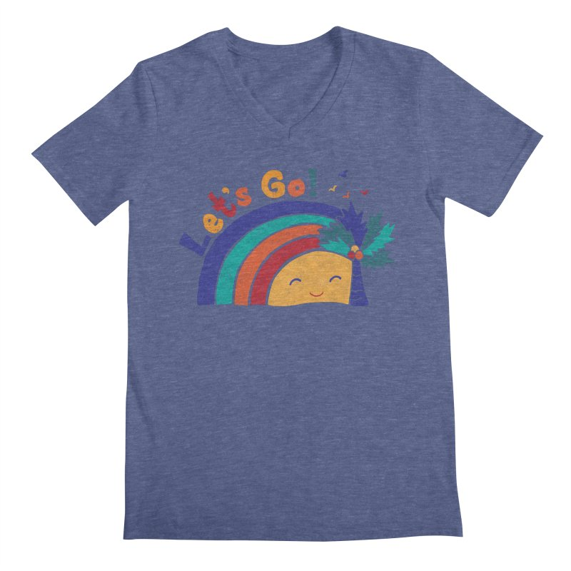 LET'S GO! Men's Regular V-Neck by Winterglaze's Artist Shop