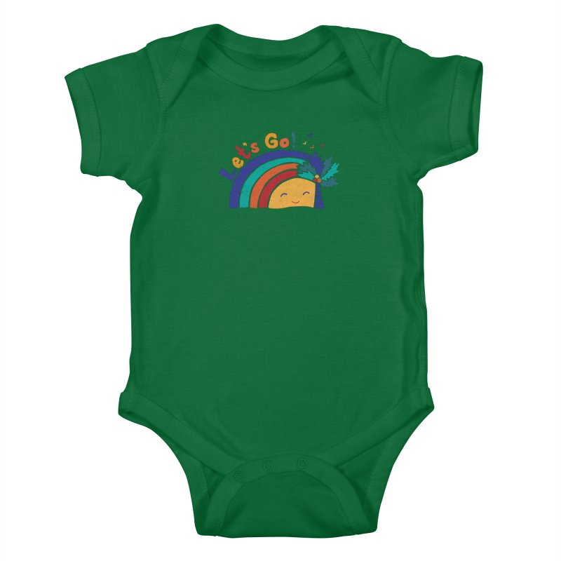 LET'S GO! Kids Baby Bodysuit by Winterglaze's Artist Shop