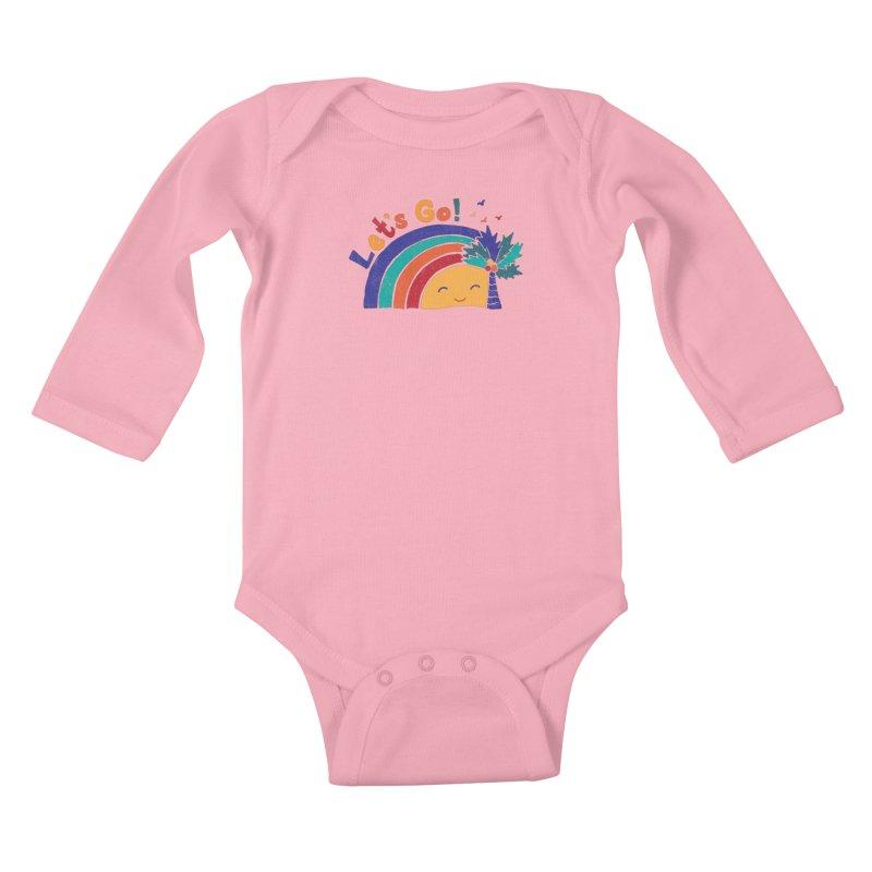 LET'S GO! Kids Baby Longsleeve Bodysuit by Winterglaze's Artist Shop