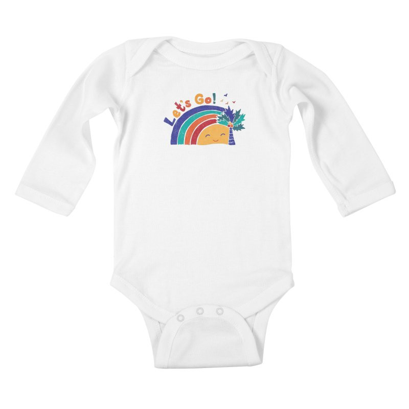 LET'S GO! Kids Baby Longsleeve Bodysuit by Winterglaze's Artist Shop