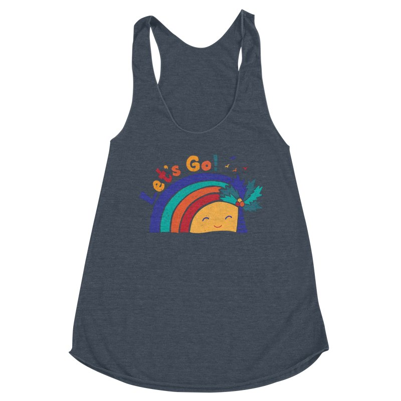 LET'S GO! Women's Racerback Triblend Tank by Winterglaze's Artist Shop