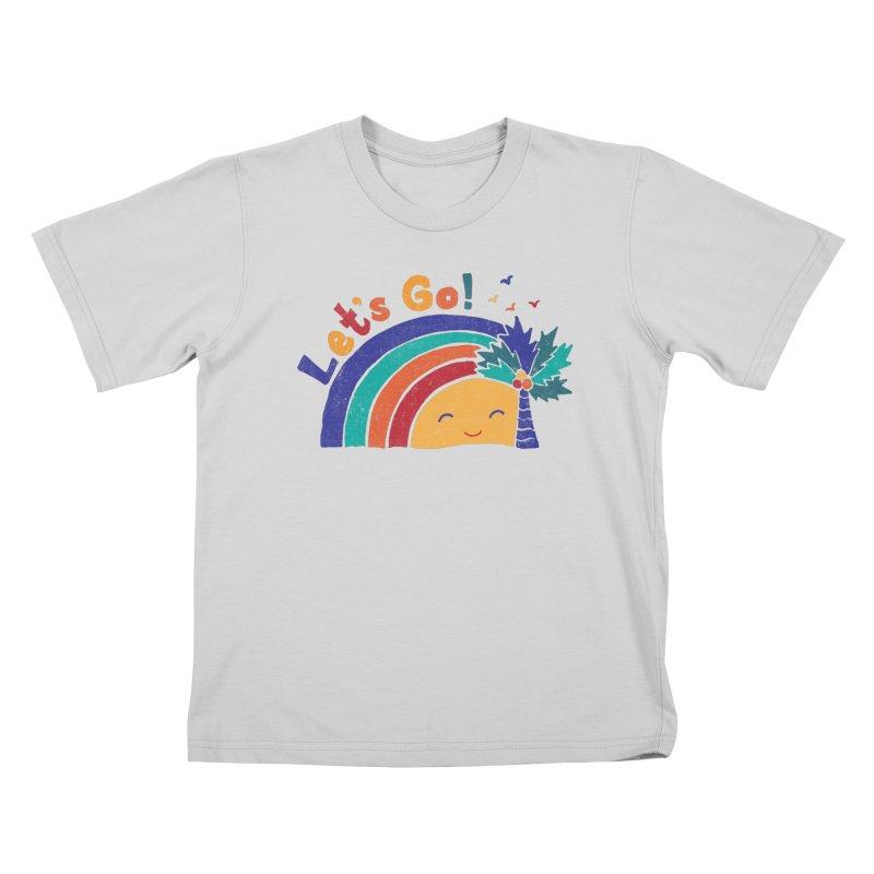 LET'S GO! Kids T-Shirt by Winterglaze's Artist Shop