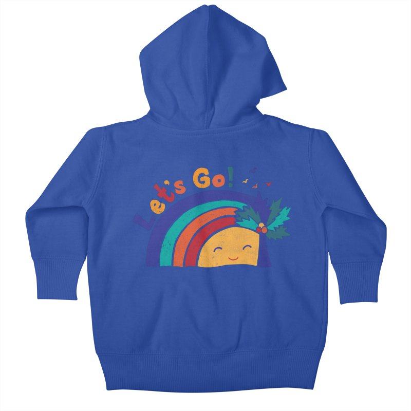 LET'S GO! Kids Baby Zip-Up Hoody by Winterglaze's Artist Shop