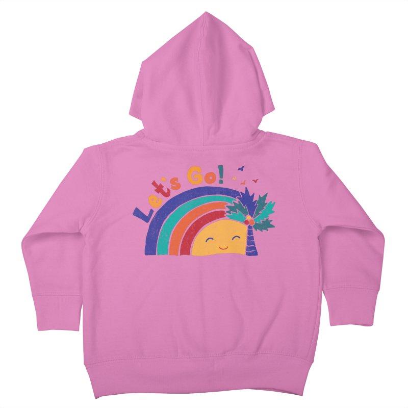 LET'S GO! Kids Toddler Zip-Up Hoody by Winterglaze's Artist Shop