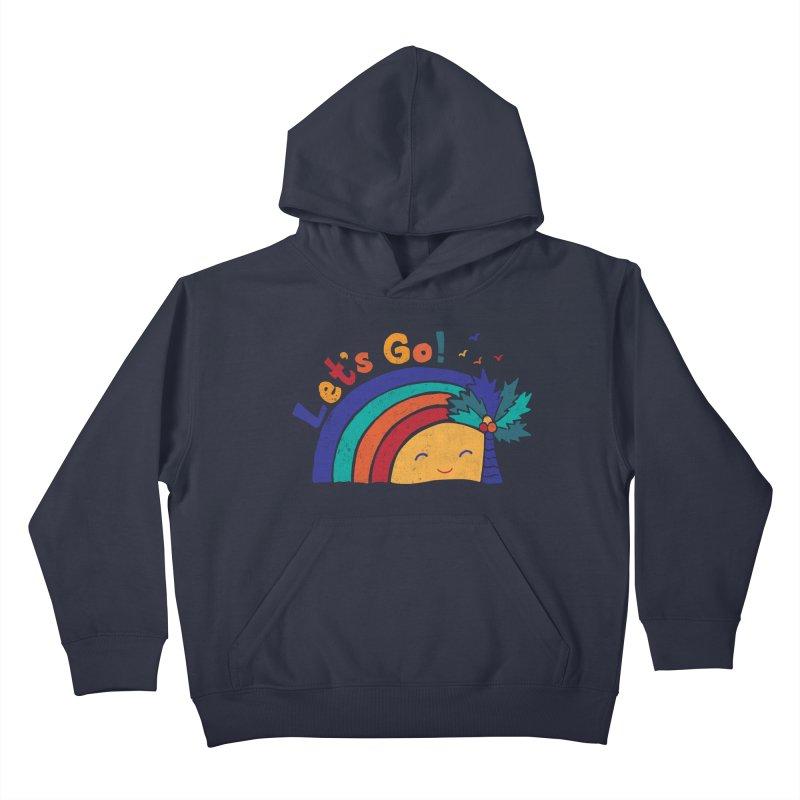 LET'S GO! Kids Pullover Hoody by Winterglaze's Artist Shop