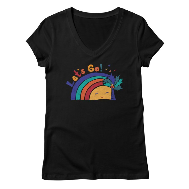 LET'S GO! Women's V-Neck by Winterglaze's Artist Shop
