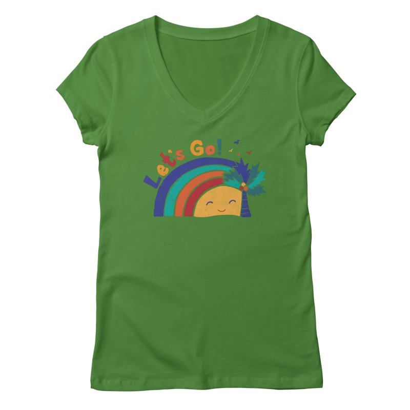 LET'S GO! Women's Regular V-Neck by Winterglaze's Artist Shop