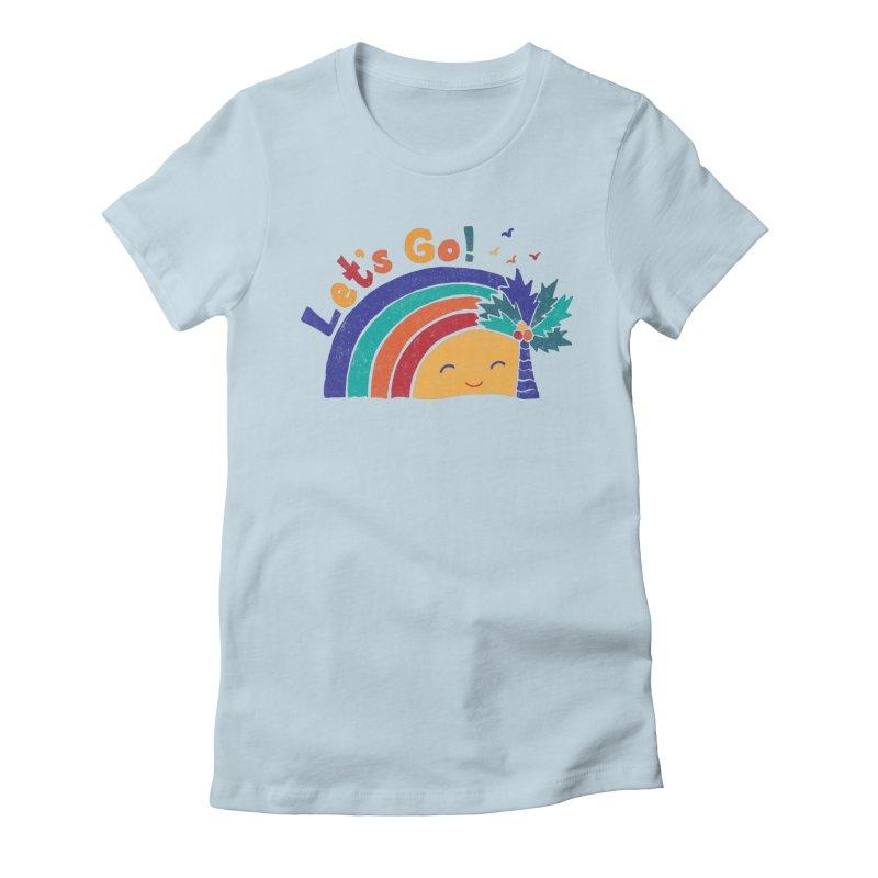 LET'S GO! Women's Fitted T-Shirt by Winterglaze's Artist Shop