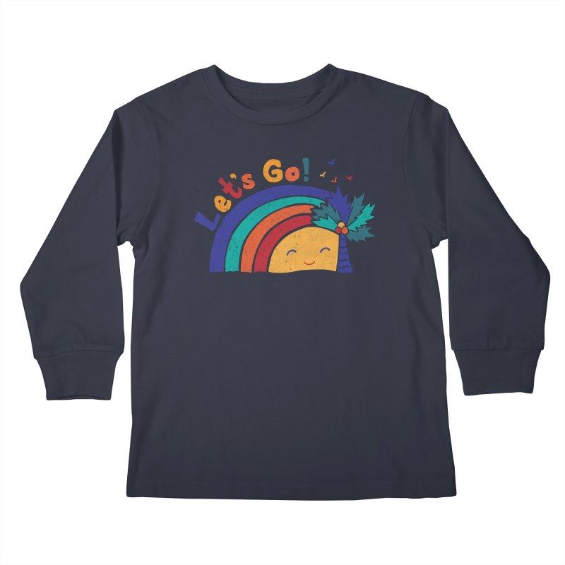 LET'S GO! Kids Longsleeve T-Shirt by Winterglaze's Artist Shop