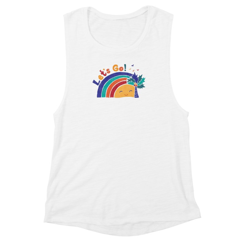 LET'S GO! Women's Muscle Tank by Winterglaze's Artist Shop