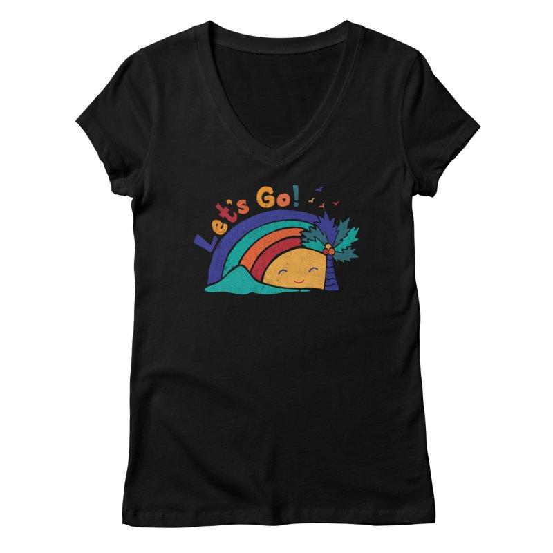 LET'S GO! Women's V-Neck by Winterglaze's Artist Shop