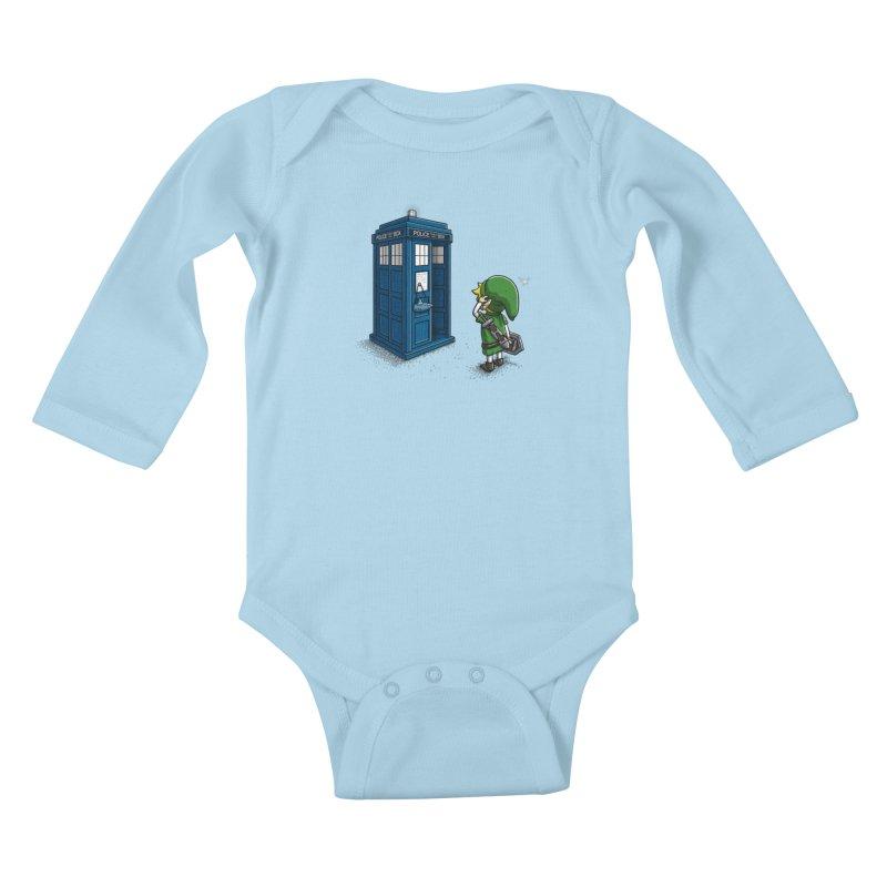The Ocarina of Time Travel Kids Baby Longsleeve Bodysuit by WIRDOU