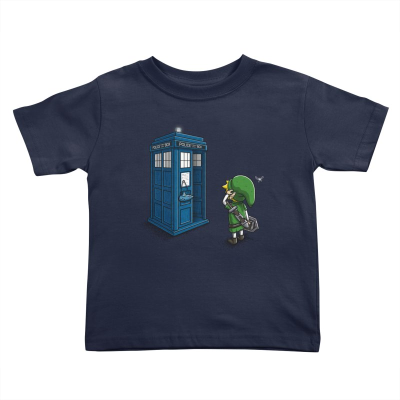 The Ocarina of Time Travel Kids Toddler T-Shirt by WIRDOU