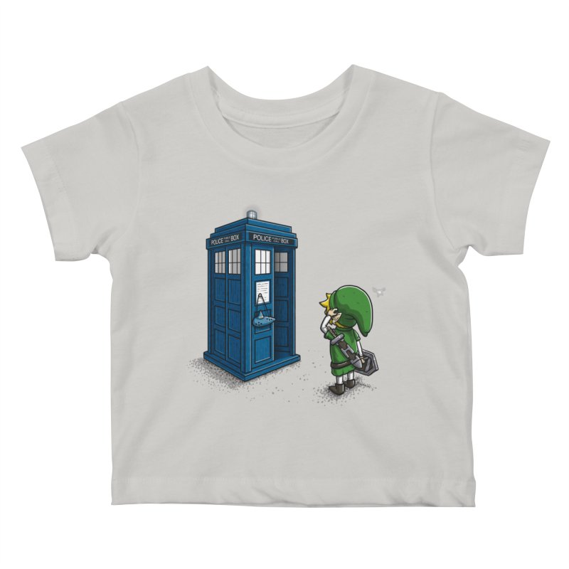 The Ocarina of Time Travel Kids Baby T-Shirt by WIRDOU