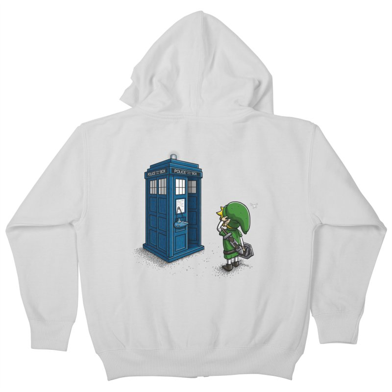 The Ocarina of Time Travel Kids Zip-Up Hoody by WIRDOU