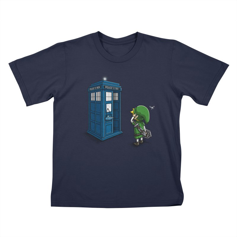 The Ocarina of Time Travel Kids T-shirt by WIRDOU