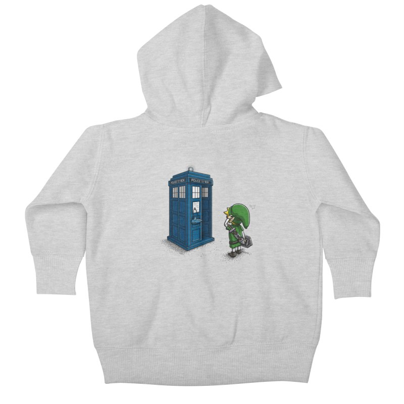 The Ocarina of Time Travel Kids Baby Zip-Up Hoody by WIRDOU
