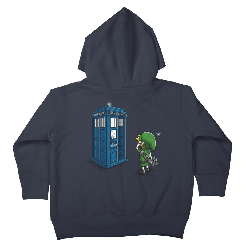 The Ocarina of Time Travel Kids Toddler Zip-Up Hoody by WIRDOU